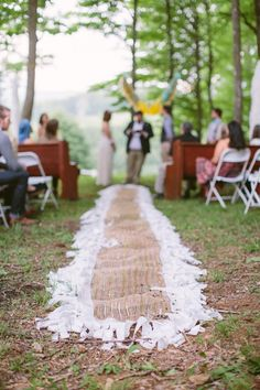 Aisle Runner Whimsical Mountain Cabin Wedding North Carolina http://www.revivalphotography.com/