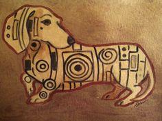 Golden Dachshund Www.facebook.com/artbyeddy #doxie #dachshund