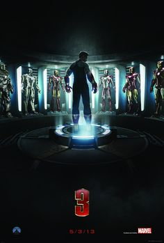#IronMan3 official movie poster.