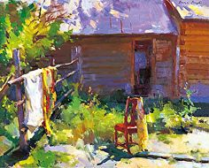 Sergei Bongart, Red Chair and Shawls Painting Process, Painting Techniques, Painting Tips, Painting Art, Paintings I Love, Beautiful Paintings, Indian Paintings, Landscape Art, Landscape Paintings