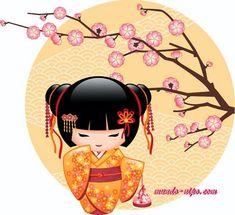 Japanese Gokesi doll Sticker