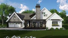 2483 SF Bungalow Cottage Country Craftsman Farmhouse Traditional House Plan 42685 Elevation