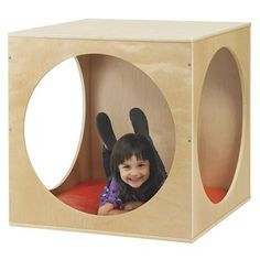 The Birch Playhouse cube is the perfect reading nook with enough room for two children. Solid panels on top, bottom, and back. You'll also get a mat to make sitting time more comfortable. The cube mak