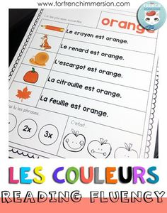 French Reading Fluency Practice with Colors - For French Immersion Learn French Beginner, French For Beginners, French Learning Books, Teaching French, Read In French, How To Speak French, French Alphabet, Fluency Practice, French Colors