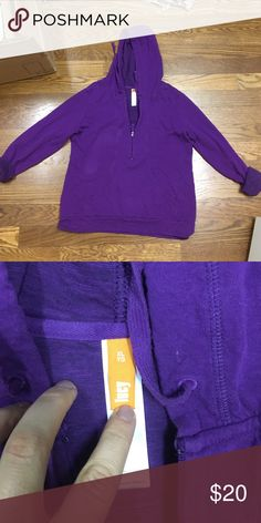 Lucy half zip sweat shirt with pockets Gorgeous purple sweatshirt. So soft and cozy. Perfect for fall or winter. EUC- no rips, stains or tears. Lucy Tops Sweatshirts & Hoodies