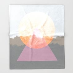 Landscape Abstract 3 Throw Blanket by Mareike Böhmer Graphics