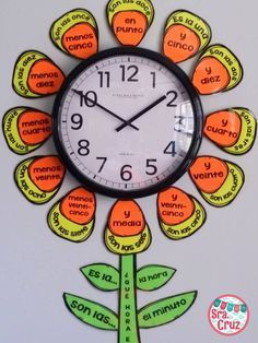 UPDATED!  Spanish Flower Clock Kit now includes outer petals with the hours!