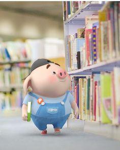 cute, blue et cartoon image sur We Heart It Pig Wallpaper, Disney Wallpaper, Kawaii Pig, Cute Piglets, Pig Illustration, Funny Pigs, Pig Art, Mini Pigs, Baby Pigs
