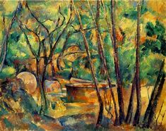 Millstone and Cistern Under Trees 1894(El ritmo) Paul Cezanne