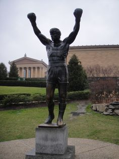 The Rocky Statue at the Philadelphia Museum of Art.  There aren't many places or things I really want to see, but this is one.  I want to go for a run here.