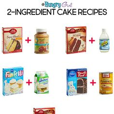 Want to make the easiest cake in the world… with only 2 ingredients and under 160 calories a slice? Cake Mix Desserts, Cake Mix Cookie Recipes, Dump Cake Recipes, Easy Desserts, Cake Flavors, Cake Mix And Soda, Soda Cake, Rainbow Cake Mix, Two Ingredient Cakes
