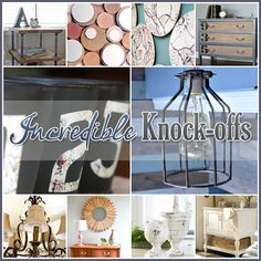 Incredible Knock-Offs Pottery Barn, Anthropologie and more for your Home Decor