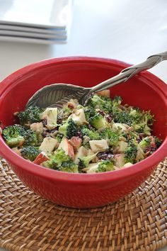 Broccoli Apple Salad - had this at work today, delicious!