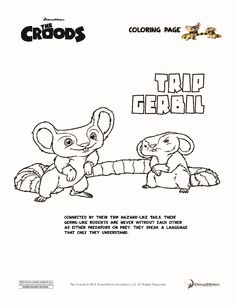 trip gerbil the croods coloring page