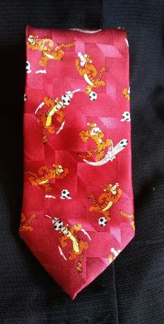 Disney Winnie The Pooh Tigger Red Print Silk Necktie | Clothing, Shoes & Accessories, Men's Accessories, Ties | eBay!