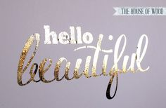 DIY Gold Foil Print Tutorial (includes good info on cheap laminator to use) - from The House of Wood