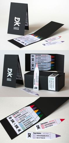 Cleverly Designed Mini Business Cards With Matchbook Style Dispenser