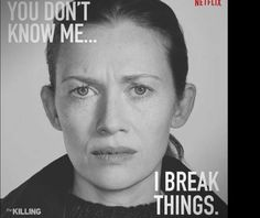 Mireille Enos as detective Sarah Linden in The Killing.