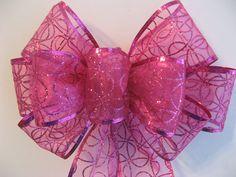 Wreath bow Spring bow Easter bow gift or by BabesnBowsBoutique