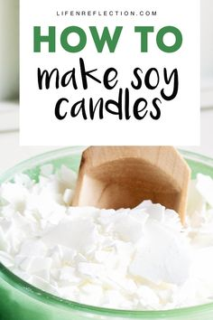 How to make soy candles - a step by step guide and beginner candle making recipe Are you ready to begin soy candle making? Consider these things first to get candle making right the first time! Homemade Soy Candles, Diy Candles, Soy Wax Candles, Scented Candles, Paraffin Candles, Natural Candles, Paraffin Wax, Candle Wax, Soy Candle Making