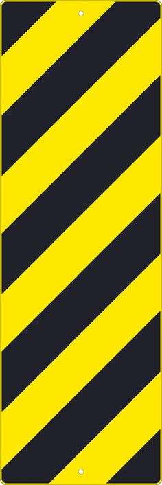 """Right Stripe Yellow Object Marker Graphic, National Marker TM267K, 12""""x36"""", Black On Yellow, 85 Percent Recycled .080"""" High Intensity Reflective Aluminum Surface and Roadway Warning Sign With 2 Holes For Post Mounting - Each"""