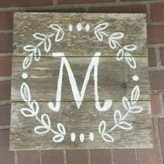 """New (never used) - Handpainted, no stencils, on reclaimed wood. Approximately 16.5 x 16.5"""" Can have ready the next day! Thank you for your order!"""