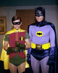 Batman (1966)   Photos with Adam West (Batman), Burt Ward (Robin).