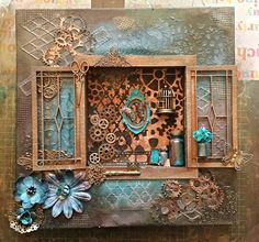 Lin's mixed media art Steam Punk