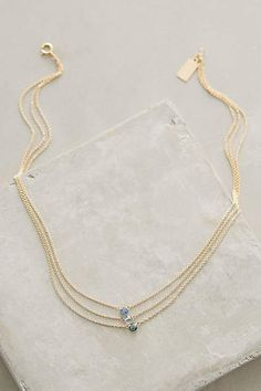 Sapphire Triplet Necklace - #anthrofave