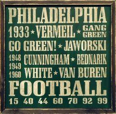 vintage Philadelphia Eagle wood sign