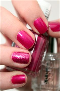 ESSIE Jamaica me crazy with Let It Shine for the accent