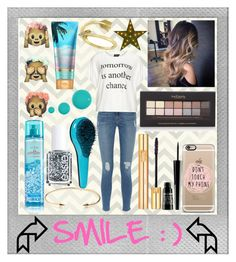 """""""Smile❤️"""" by pinkcoveredkisses ❤ liked on Polyvore featuring beauty, Polaroid, Kreme Life, Frame Denim, Replace, Jeweliq, Yves Saint Laurent, Lord & Berry, Forever 21 and Essie"""
