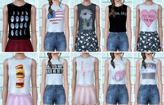 Brandy Melville inspired CC for TS3 by SimSweetie :)