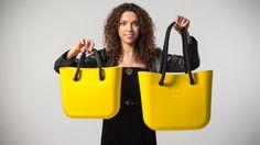 Fullspot O bag mini and standard O bag comparison. Yellow O bags with rope handles
