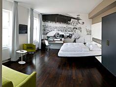 Creative Car Themed Bedroom Design Ideas - White Car Bedroom With Wooden Floor : Creative Car Themed Bedroom Design Ideas – White Car Bedroom With Wooden Floor