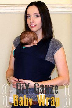 DIY gauze baby wrap