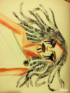 Medusa zentangle
