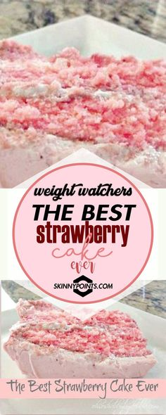 The Best Strawberry Cake Ever #weightwatchers #weight_watchers #strawberry #cake Weight Watchers Cupcakes, Weight Watchers Pie, Weight Watchers Cheesecake, Weight Watchers Desserts, Weight Watcher Dinners, Weight Watchers Smart Points, Weight Watchers Freezer Meals, Best Strawberry Cake Recipe Ever, Strawberry Cakes
