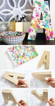 DIY-Floral-Monogram-DIY-Home-Decor-Ideas-on-a-Budget-Click-for-Tutorial-Easy-Home-Decorating-Ideas