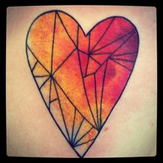 Stained glass heart tattoo. Ooooh I love stained glass.