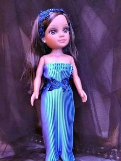 Vestido de fiesta Barbie, Vestidos Nancy, Nancy Doll, Elsa, Doll Clothes, Strapless Dress, Disney Princess, Formal Dresses, Facebook