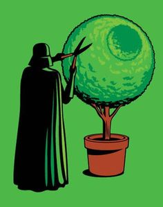 Vader trimming his Death Star bush - by Glennz