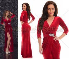 rochia petrecuta -tipar - Căutare Google Wrap Dress, Formal Dresses, Google, Red, Pattern, Fashion, Dresses For Formal, Moda, Formal Gowns