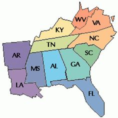 Southeast Region Southeast Region States And Capitals - Map southeast us states