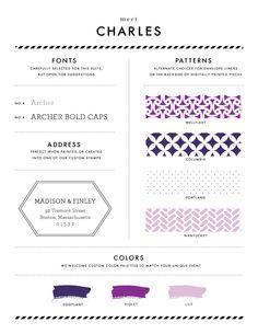 Charles in Purple Tones - Wedding Invitation Style Sheet | Chelsey Emery | www.chelseyemery.com