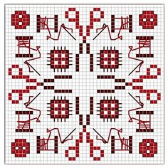 sewing supplies square cross stitch pattern
