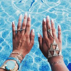 some loverly summer memories from @isabellakunst ... many thanks for shining with us ... the tat's may fade away but the memories stay forever  #summermemories #handcandy #handjewelry #pooltime #miintomoments #prtty #feelprtty