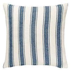 Stripe Woven Cotton Decorative Pillow   (8 Coastal Colors)