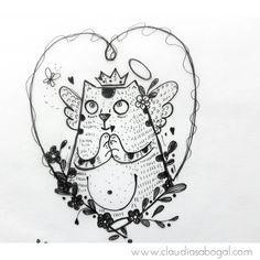 "91 Me gusta, 9 comentarios - Claudia Sabogal G. (@cgrafica) en Instagram: ""🙏🙏🙏🙏 #illustration #gatos #animales #drawing #draw #catsofinstagram #instaart #graphic #practice…"""