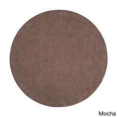 Hand-loomed Clayton Solid Wool Round Area Rug (6' Round)